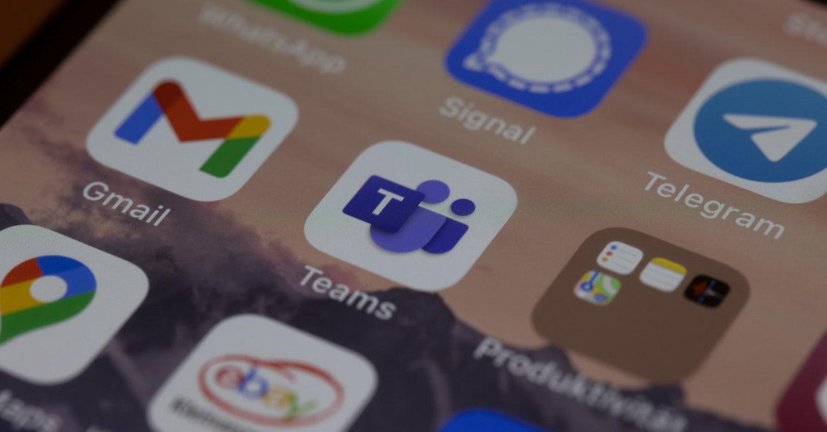Image of a mobile phone screen showing the Microsoft Teams app icon.